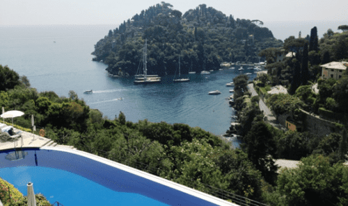 Lunch at Hotel Splendida with a view of Portofino, Italy, is a favorite shore excursion for passengers on Windstar ships