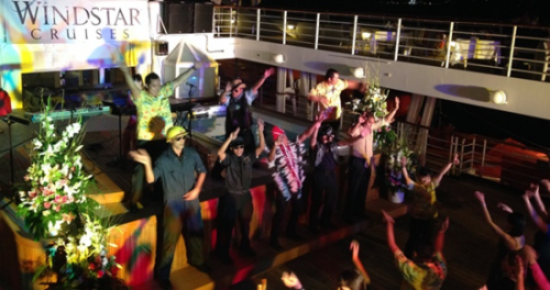 Deck party on the Star Breeze