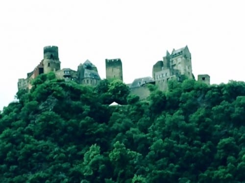 One of many castles along the Rhine River