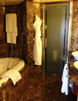 Marbled bathroom in the Grand Suite of Silver Spirit