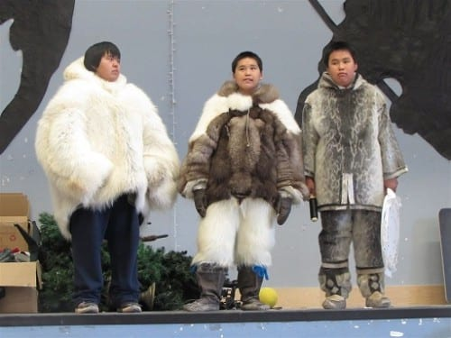Fashions Parade for Inuit boys