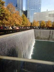 The 9/11Memorial is difficult to photograph, but lovely to see