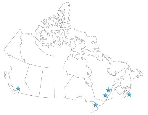 Cruise Port Map of Canada
