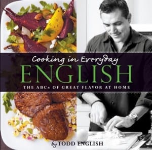 The cover of celebrity Chef Todd English's cookbook, copies of which he will sign for guests during Queen Mary 2's Independence Day Celebration cruise departing New York on 1 July